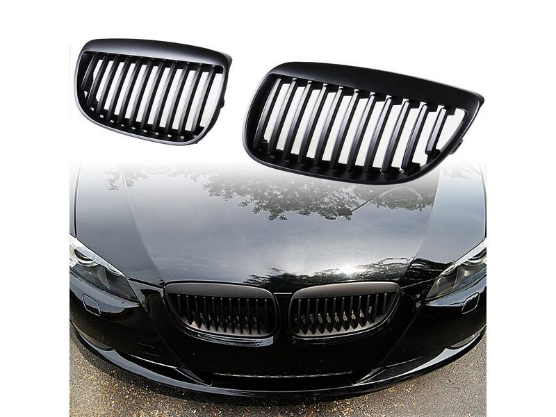 For BMW E92 335 330 M3 E93 07-10 MATTE BLACK GRILLE GRILL