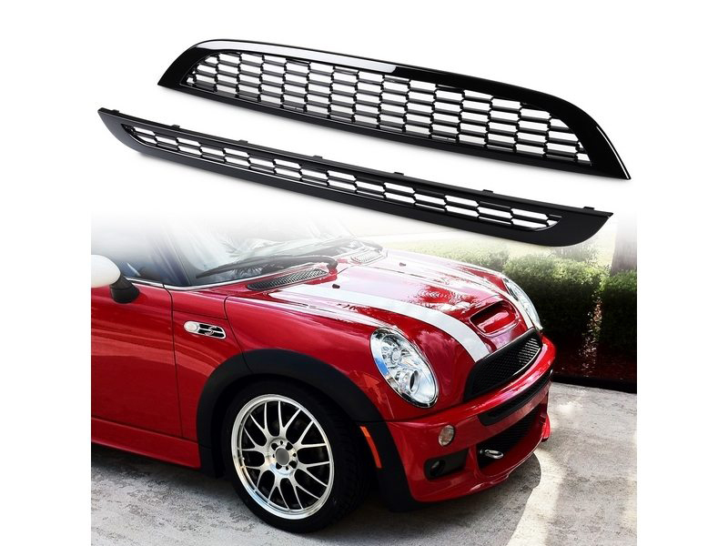 Front Mesh Grill Painted Black For Mini Cooper 01-06 R50 R53 R53 JCW BUMPER ONLY