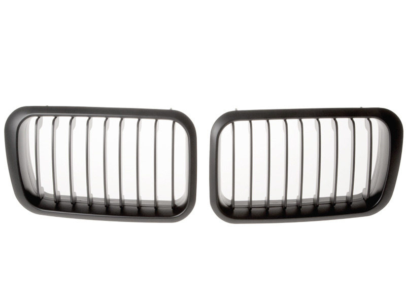 BMW E36 Front Center Grille 92-96 Kidney M3 Wide Style Black
