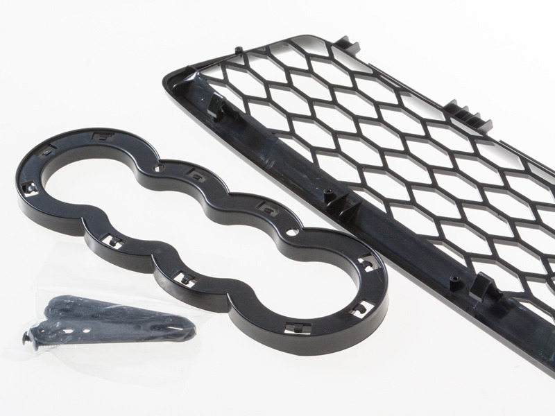 AUDI A4 S4 B5 EURO RS4 MESH GRILLE GRILL 96-02 BLACK