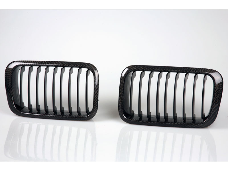 BMW E36 Front Center Grille 92-96 Kidney Style Real Carbon Fiber