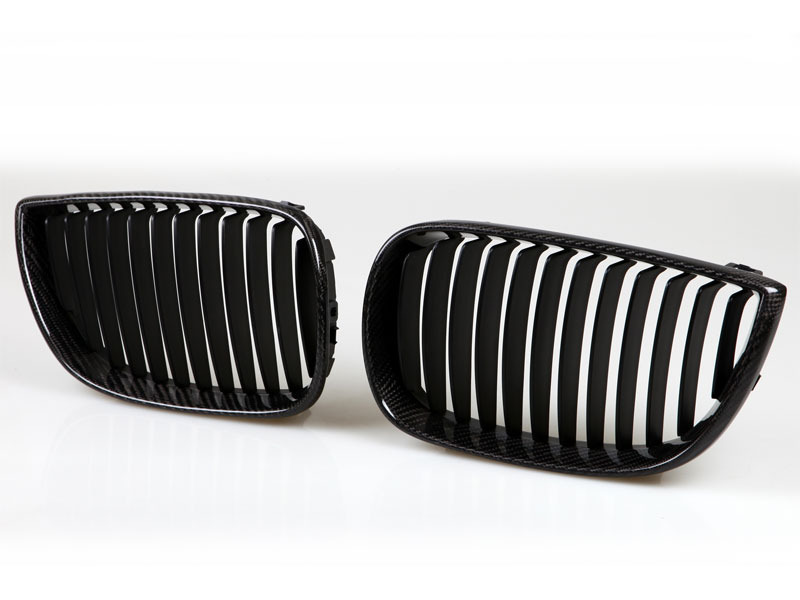 BMW E81 E87 REAL CARBON KIDNEY FRONT GRILLE GRILL  130i 123d