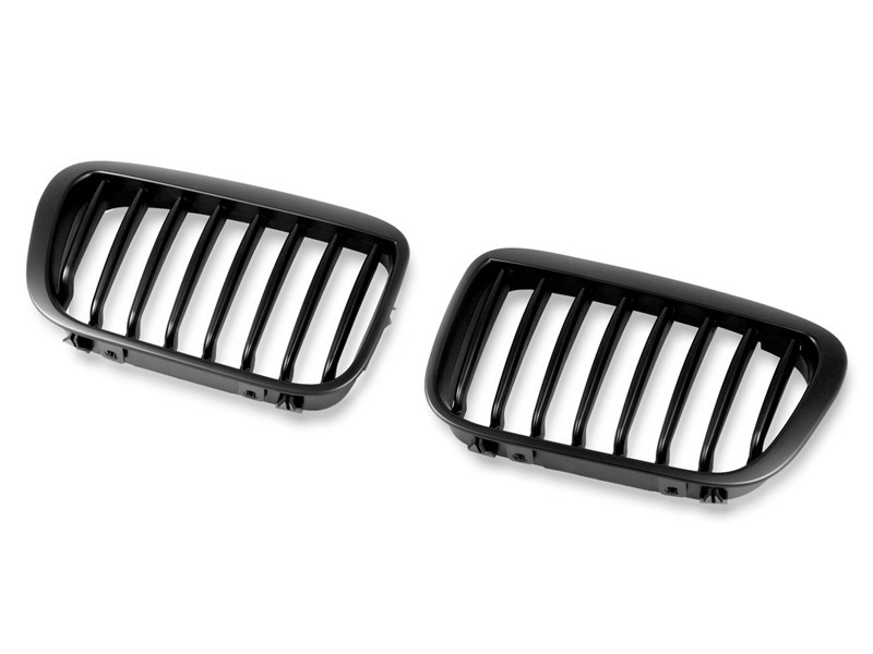 For BMW E46 Front Grille 99-02 4 Door Kidney Style Black M6 Look
