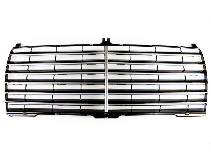 86-93 Mercedes Benz W124 S600 Black Chrome Front Grille