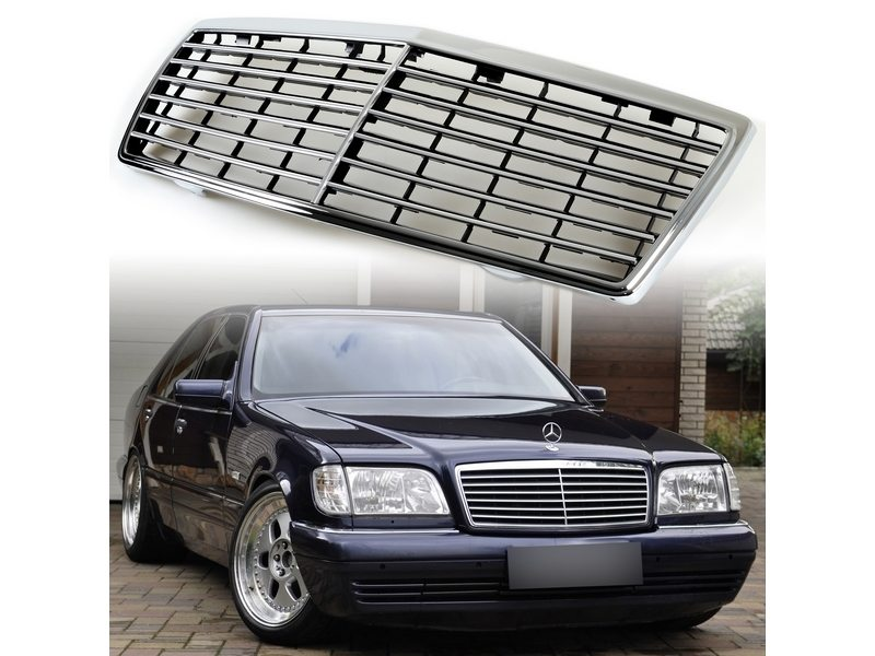Front Mesh Grill For Mercedes Benz W140 S-CLASS S320 S430 S500 S600