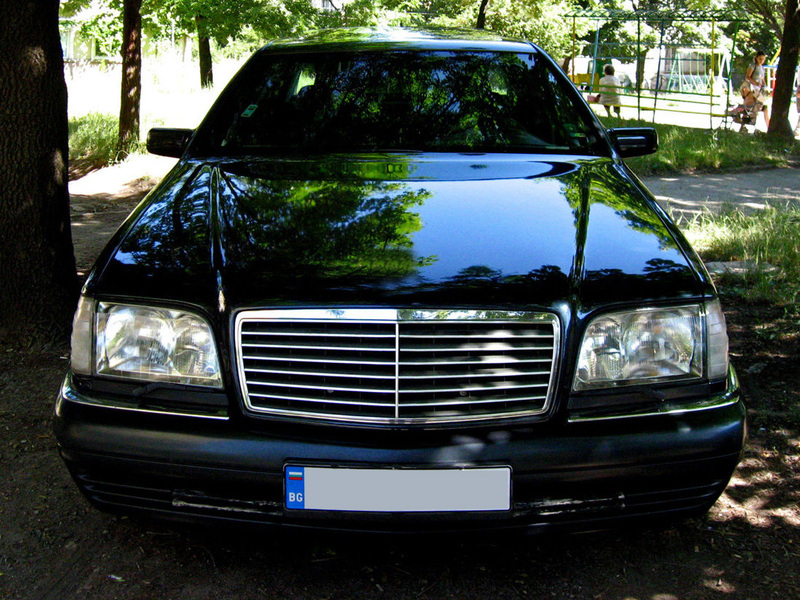 92 99 mercedes benz w140 s600 black chrome trim grille
