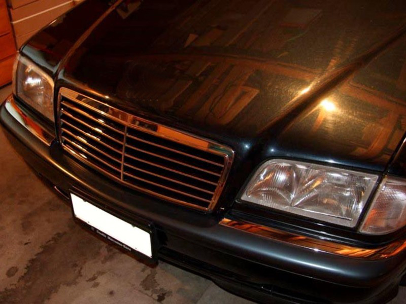 Mercedes Benz W202 C220 C280 C36 Grill Grille AMG 94-00 Chrome Black