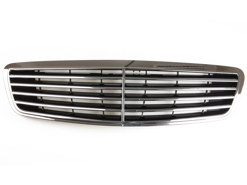 Front Chrome Grill For Mercedes Benz S-Class W220 S320 S500 S600 S55 1998-2002