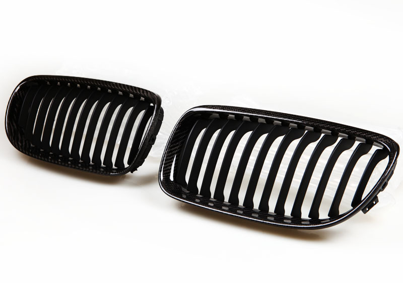 09-UP BMW E90 E91 LCI CARBON FIBER FRONT KIDNEY GRILLE