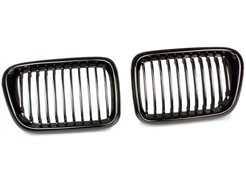 BMW E36 FACELIFT BLACK CHROME KIDNEY FRONT BUMPER GRILL GRILLE Performance
