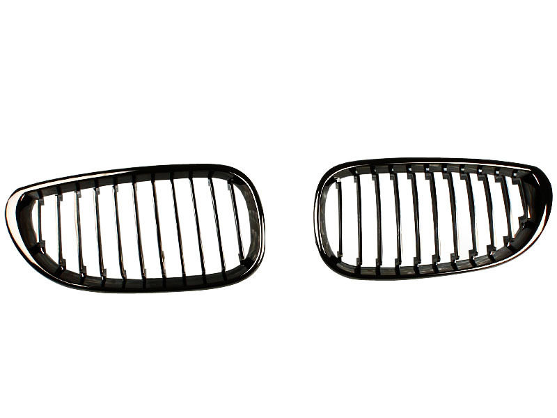 BMW E60 E61 BLACK CHROME KIDNEY FRONT BUMPER GRILL GRILLE M5 Performance
