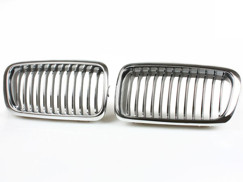 FRONT HOOD GRILL CHROME GRILLE For 95-02 BMW E38 740 750 IL