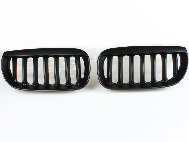 For BMW 03-06 E83 X3 Pre-facelift FRONT BUMPER SPORT GRILL GRILLE MATT BLACK