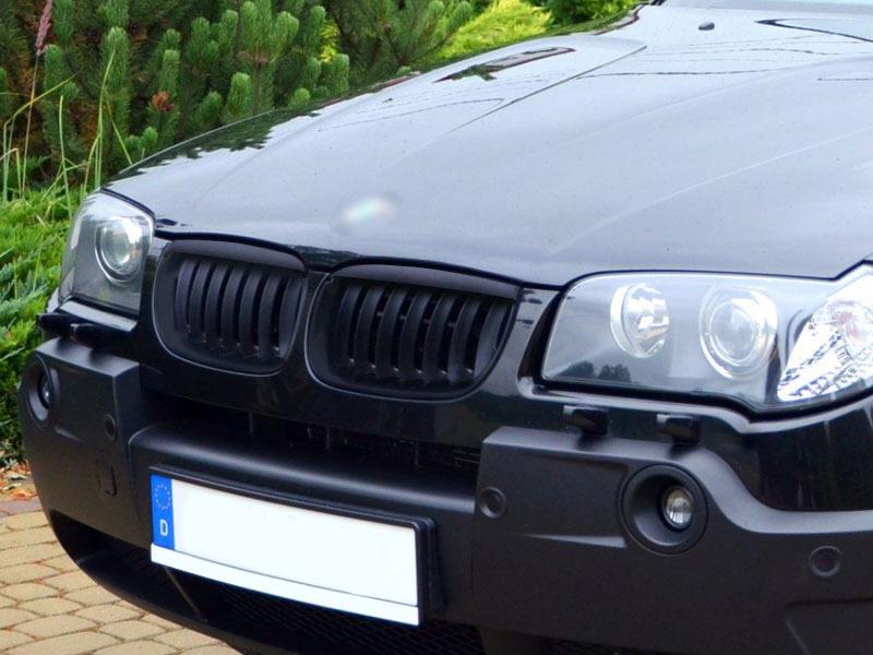 BMW 03-06 E83 X3 Pre-facelift FRONT BUMPER SPORT GRILL GRILLE MATT BLACK