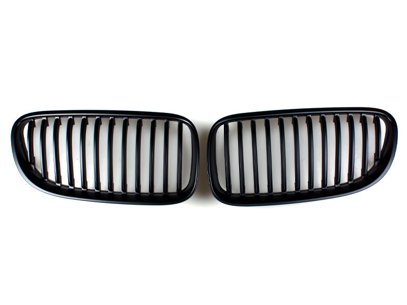 For BMW E92 E93 10-12 LCI MATTE BLACK FRONT HOOD BUMPER DARK KIDNEY GRILLES