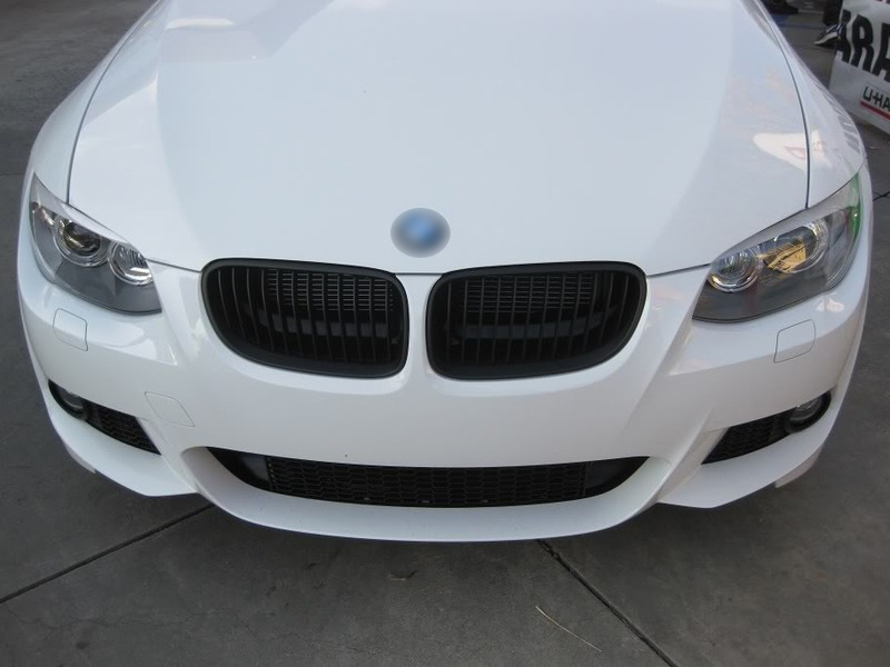 BMW E92 E93 10-12 LCI MATTE BLACK FRONT HOOD BUMPER DARK KIDNEY GRILL GRILLES