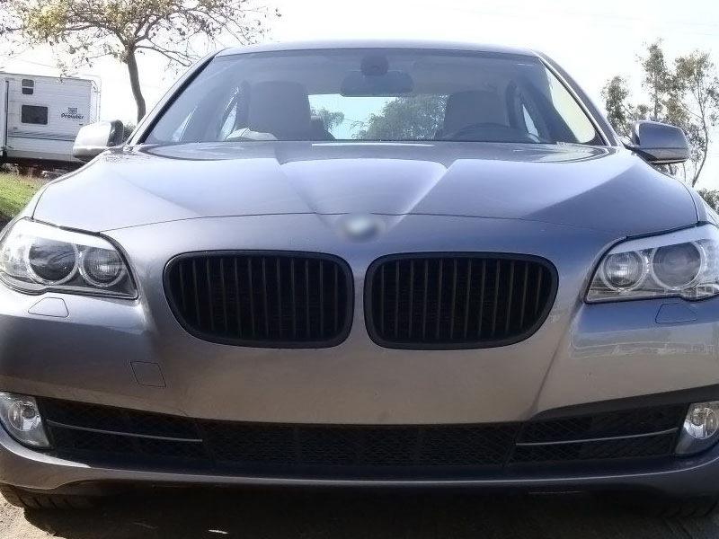 For BMW 5-Series F10 F10 M5 Front Bumper Kidney Grille Matte Black