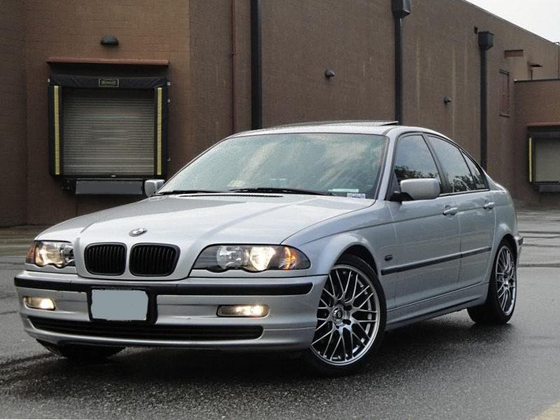 BMW 3-Series E46 4D Sedan Pre-facelift OEM Style Front Bumper Grille Black