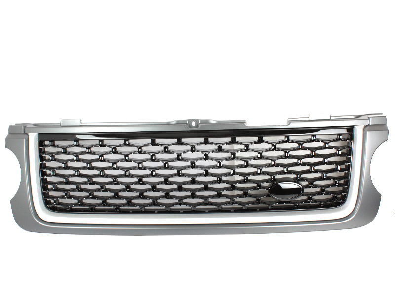 Front Hood Mesh Grill Grey+Gloss Black+Silver For Land Rover For Range Rover L322
