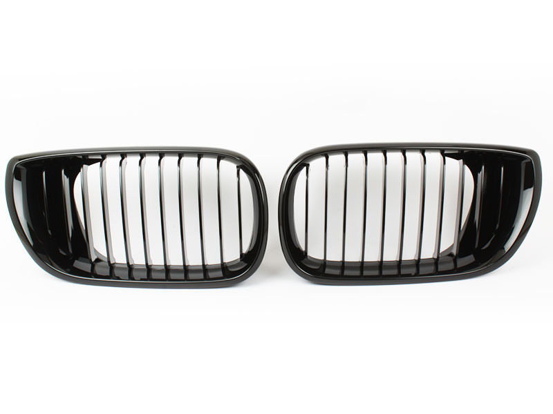 For BMW 3-Series E46 4D Sedan LCI OE Style Front Bumper Grille Glossy Black