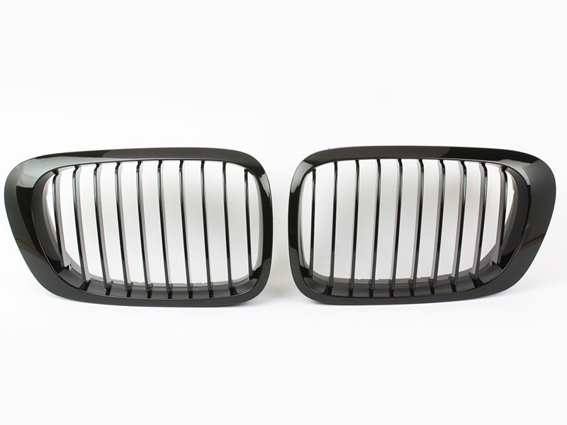 BMW E46 Coupe Convertible Pre-facelift Front Bumper Grille Glossy Black