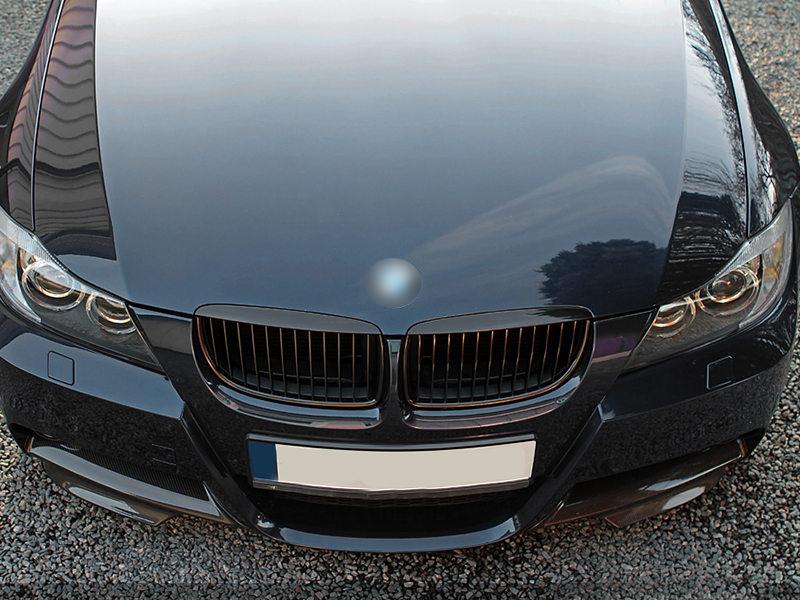 For BMW 3-Series E90 E91 Pre-facelift Front Bumper Grille Glossy Black