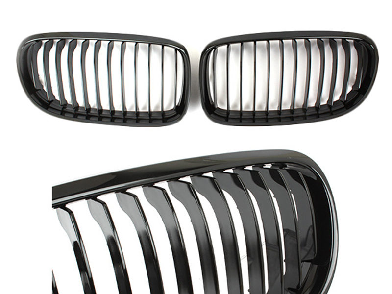For BMW 3-Series E90 E91 LCI Front Bumper Grille Glossy Black