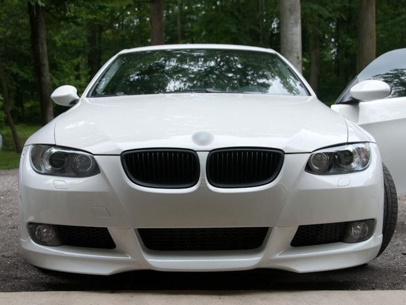 For BMW 3-Series E92 E93 M3 Pre-facelift Front Bumper Grille Black