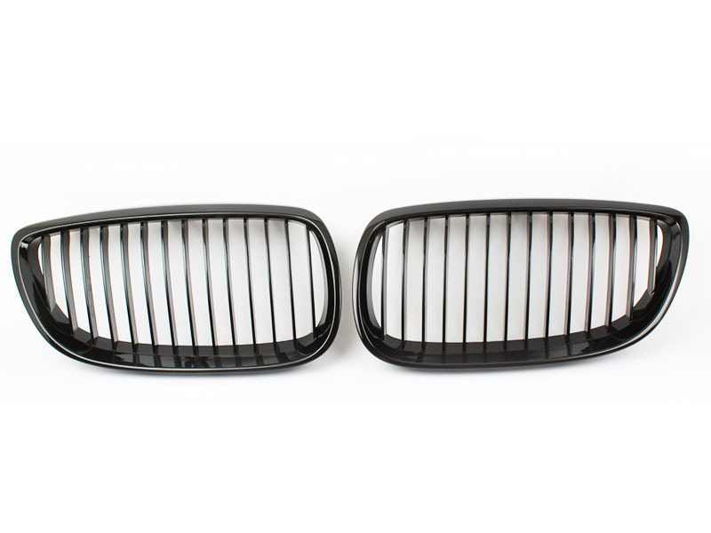 Gloss Piano Black Front Grille For BMW E92 E93 328i 335i M3 Pre-facelift 06-09
