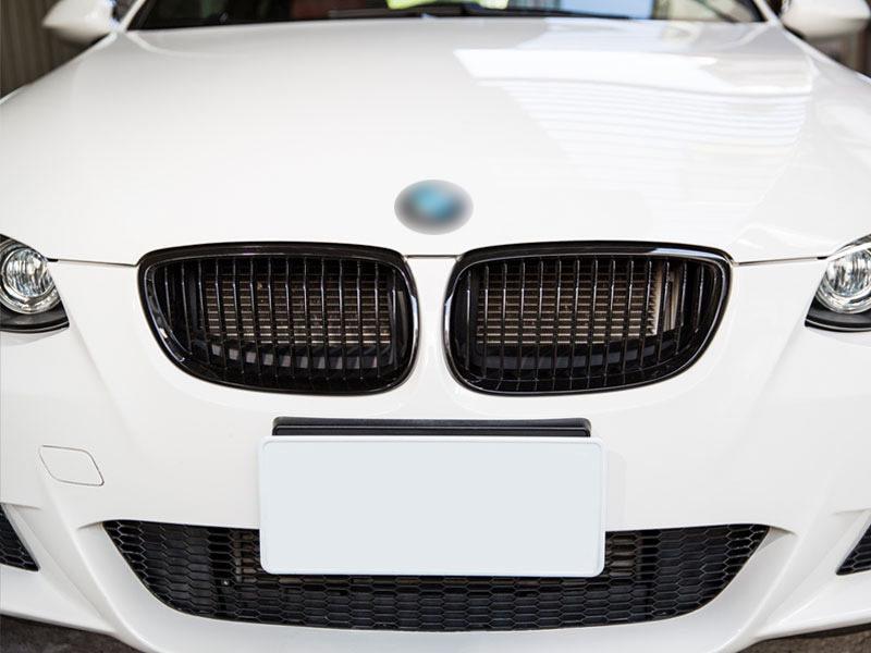 BMW 3-Series E92 E93 M3 Pre-facelift Front Bumper Grille Glossy Black