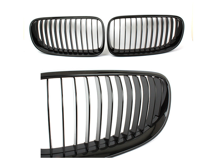 For BMW 3-Series E92 E93 LCI Front Bumper Grille Glossy Black