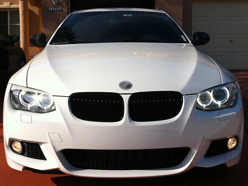BMW 3-Series E92 E93 LCI Front Bumper Grille Glossy Black