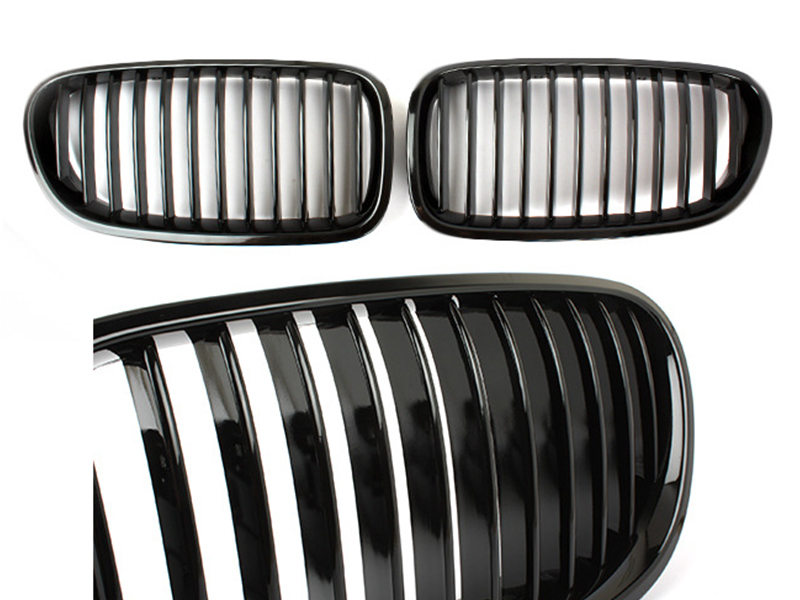 For BMW 5-Series F10 F11 M5 Front Bumper Kidney Grille Glossy Black 10-16