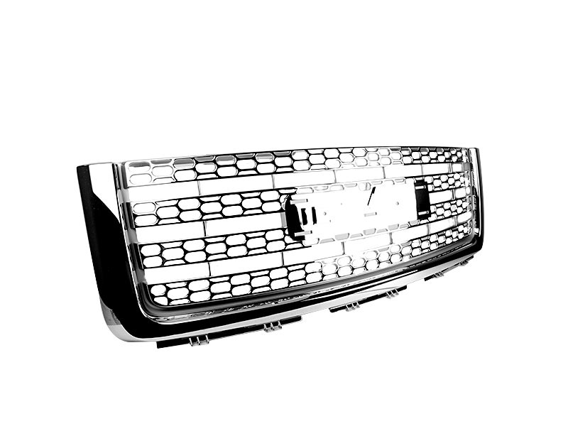 Chrome Mesh Front Hood Upper Grill Grille For GMC Sierra Denali 2007-2011