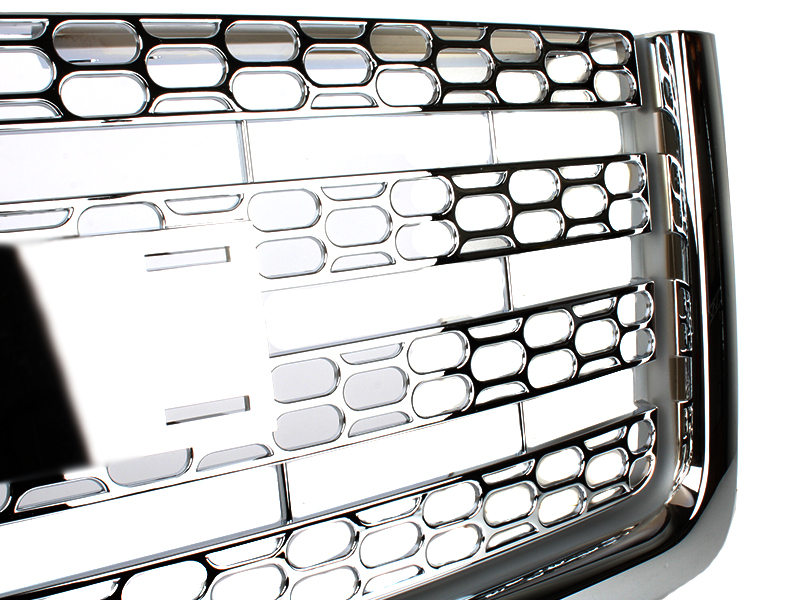 Chrome Honeycomb Mesh Hood Upper Grille For Gmc Sierra