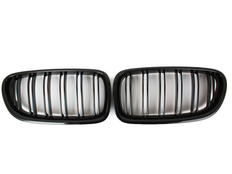 M5 Style Double Rib Gloss Black Front Kidney Grille For BMW F10 F11 528i 535i
