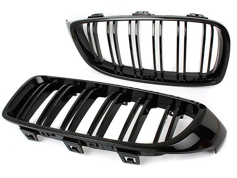 Double Rib M Look Gloss Black Kidney Grille For BMW F33 F32 F36 F82 M4 F80 M3