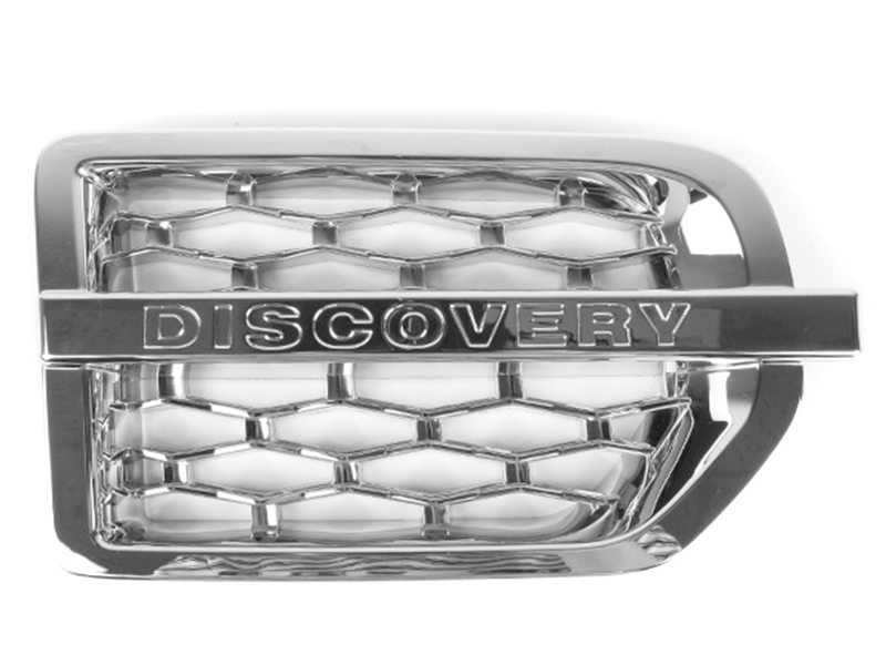 Side Fender Vent Grill For Land Rover Discovery 3 LR3 Chrome (Right Side Only)