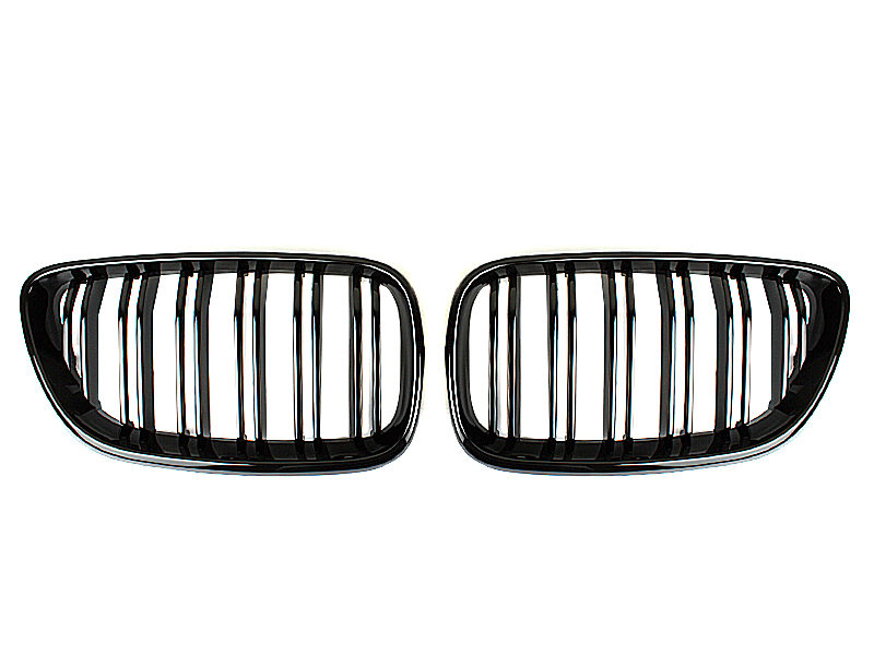 Double Rib M2 Style Gloss Black Front Bumper Kidney Grille For BMW F22