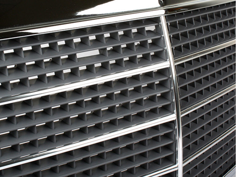 Chrome Frame + Mesh Front Grille For Mercedes W126 S-Class 300SE 380SEL 450SEL