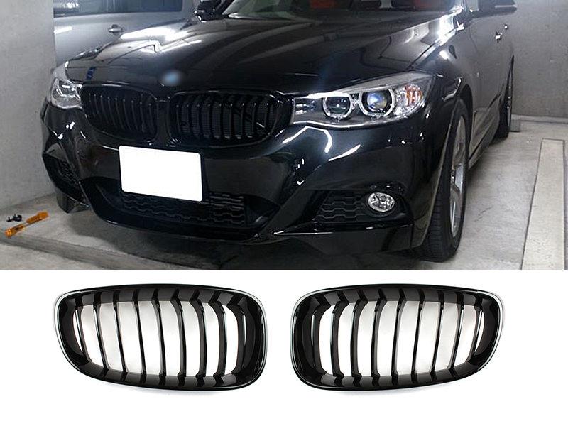 Black Front Bumper Kidney Grille For BMW F34 3GT Gran Turismo 320i 328i 335i