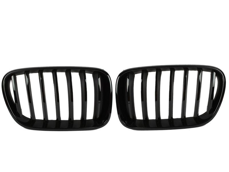 Shiny Gloss Black Front Bumper Kidney Grille BMW F25 X3 11-13 Pre-LCI