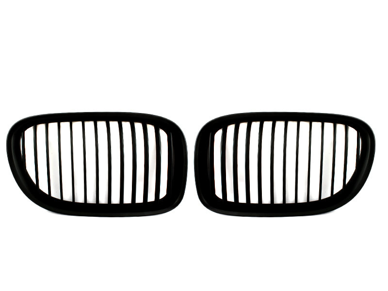 Matte Black Front Bumper Kidney Grille For BMW F01 F02 F03 F04 2009-2015