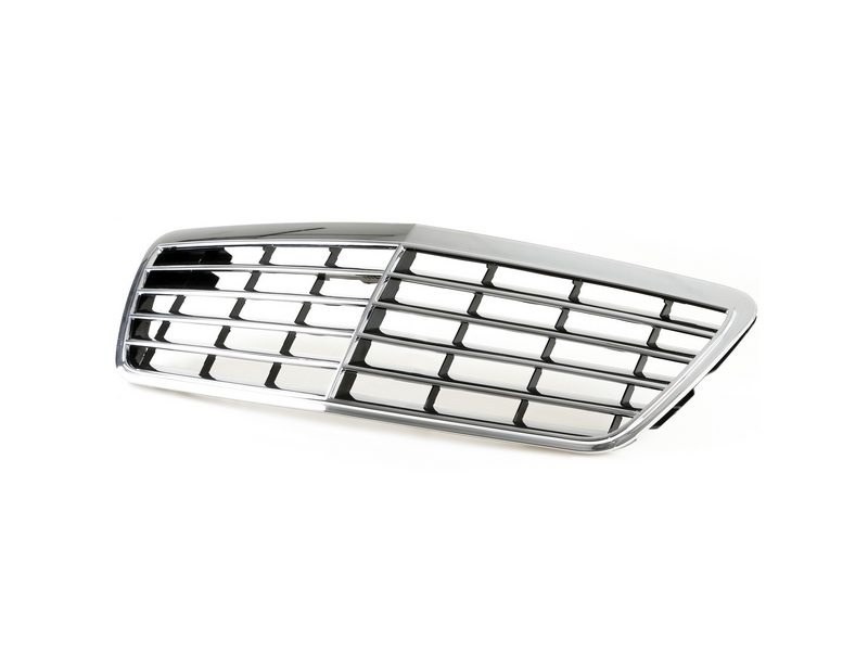 Chrome + Black Front Grille For Mercedes Benz W210 E-Class E300 E320 E430 Facelift