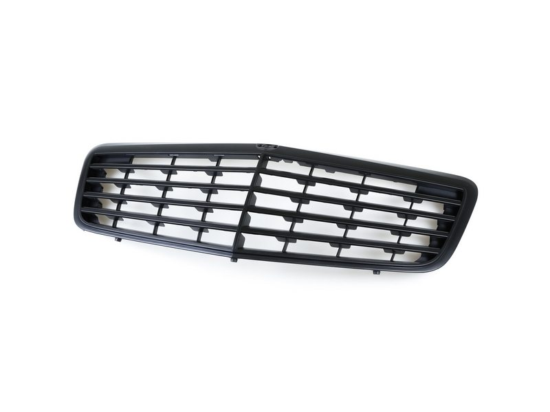 Matte Black Front Grille For Mercedes Benz W211 E-Class E300 E320 E500 07-09
