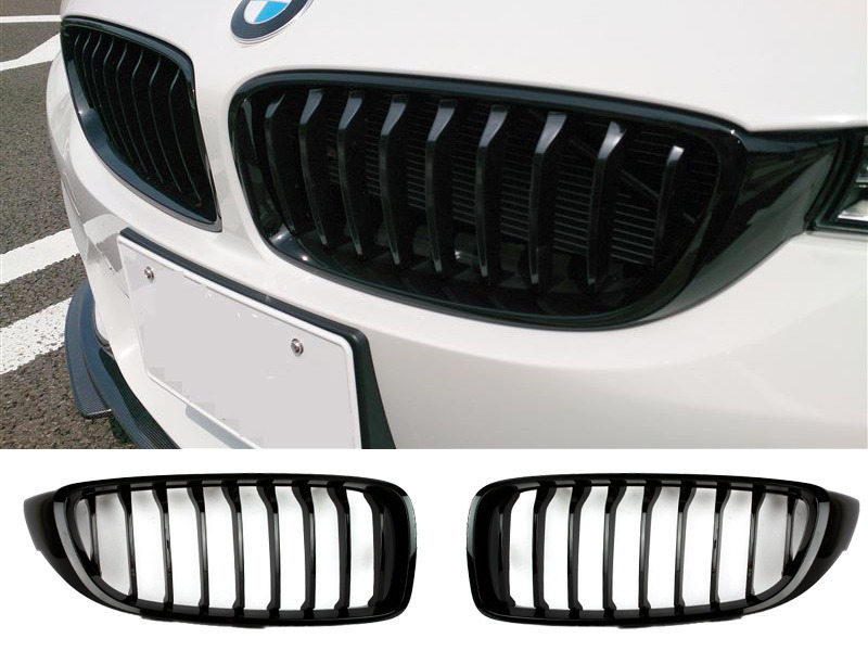 Shiny Gloss Black Front Kidney Grille For BMW F33 F32 F36 13-16
