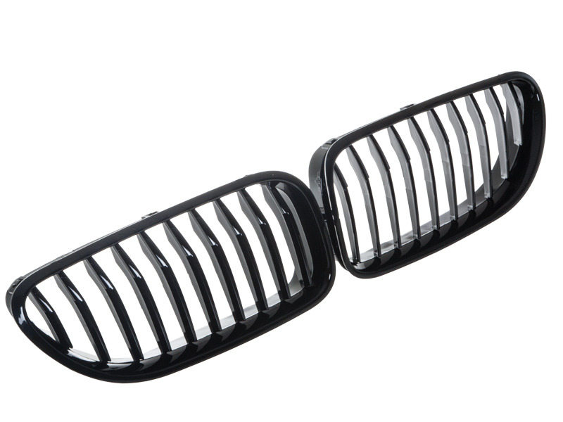 Shiny Gloss Black Front Bumper Kidney Grille BMW F06 F12 F13 12-15
