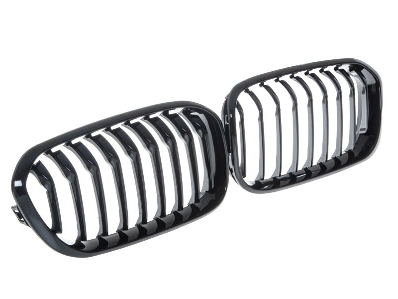 Shiny Gloss Black Front Bumper Kidney Grille BMW F20 F21 LCI 118i 120i M135i 15-16
