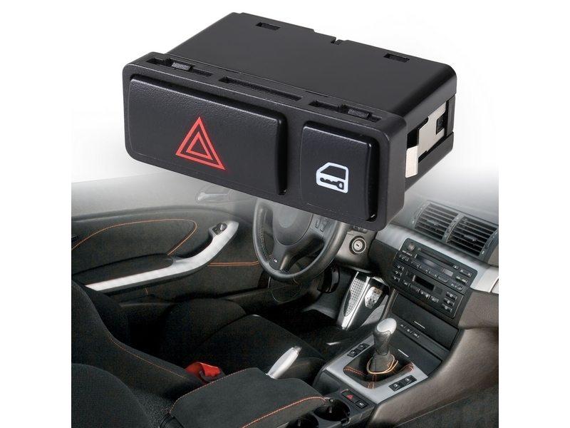 61318368920 For BMW HAZARD DOOR LOCK SWITCH E46 E53 X5 E85 Z4
