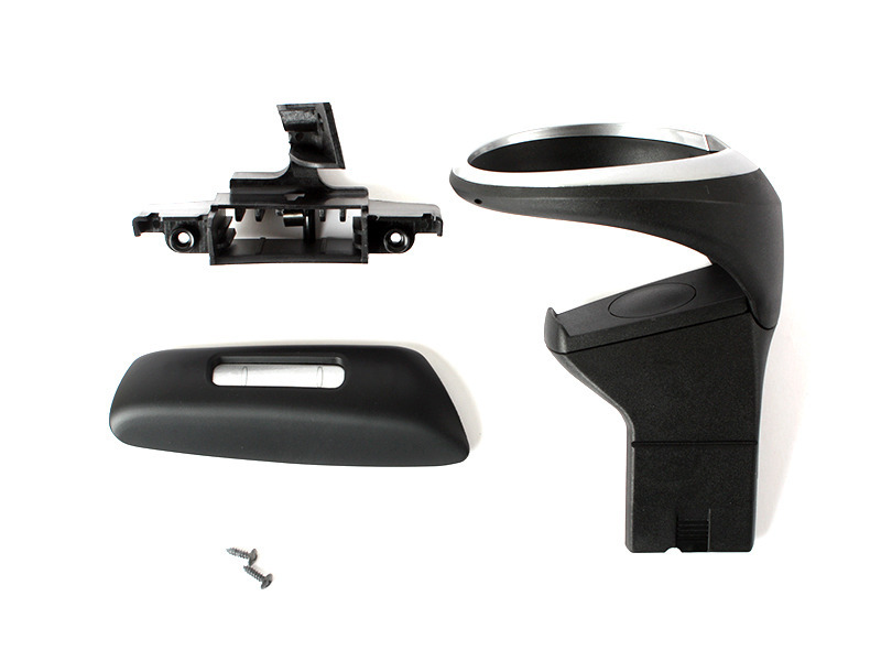 BLACK FRONT CUP DRINK HOLDER KIT FOR BMW 135i 128i E82 E84 E88 LHD ONLY